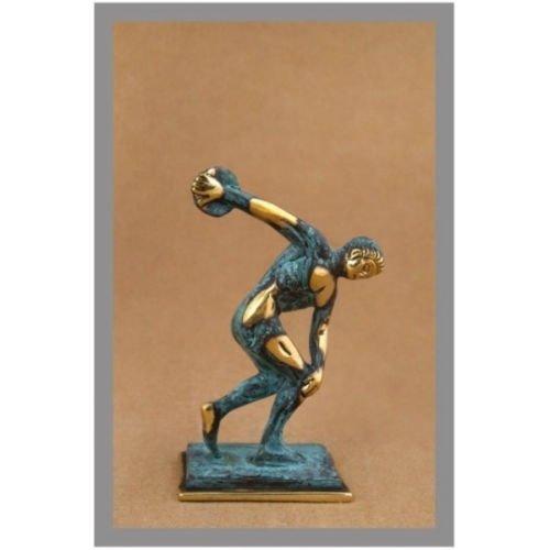 Ancient Greek Bronze Museum Statue Replica of Discus Thrower of Myron ()