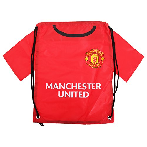 ddc34704a Manchester United FC Gym Bag - Red Shirt Design - Great for Carrying your  Soccer Stuff - Features Man Utd Team Colors and Crest - Show Your Support  For ...