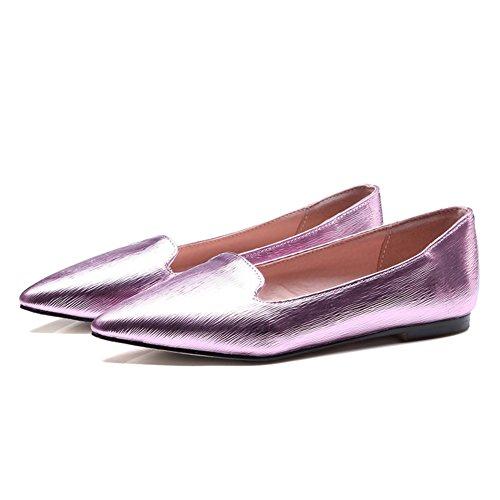 Primavera zapatos puntiagudos de planos/Zapatos ligeros/Europeo Joker zapatos C