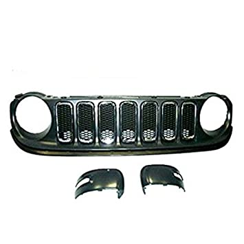 Genuine Jeep Renegade color negro mate Espejo Covers & kit de rejilla frontal 71807415