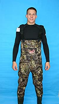Fishing Waders Size 2XL, Camo Color
