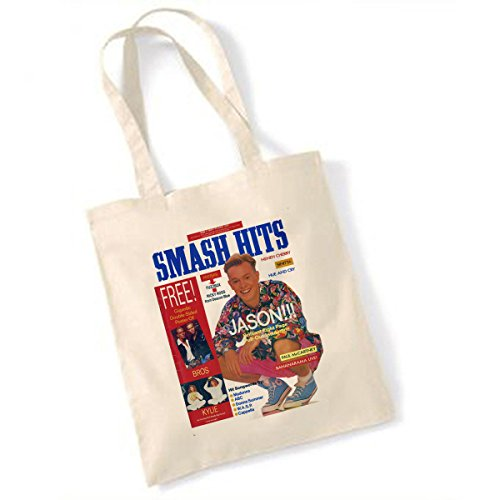 Jason Donovan Smash Hits May 31 - June 13 1989 Natural Tote Bag