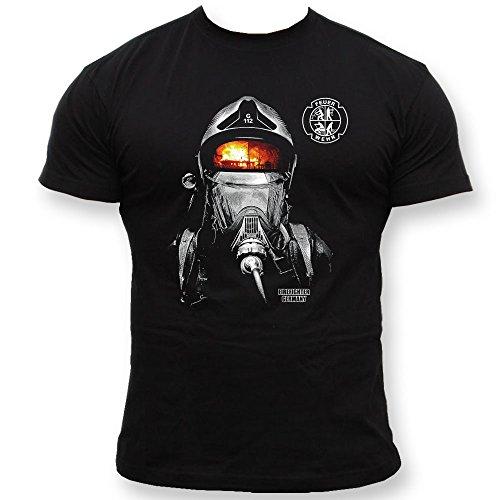 Rescue Point Firefighter Fireman Feuerwehr Herren T-Shirt KF14DE