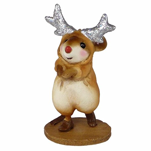 Wee Forest Folk Miniature Figurine M-549 - Reindeer Rudy made in New England