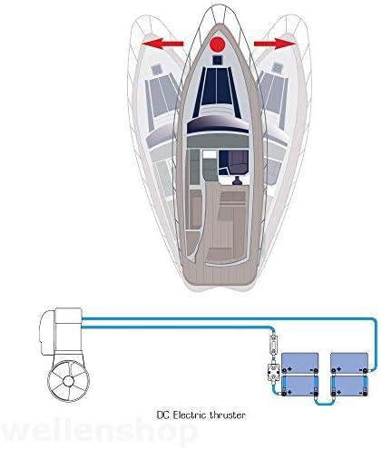 12 V hélice de proa máxima potencia CT35 con túnel 3, 6PS para{5} - 10 M barcos: Amazon.es: Deportes y aire libre