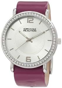 Kenneth Cole Reaction Women's RK6008 Holiday-Box Set Analog Stone Bezel Purple Strap Watch