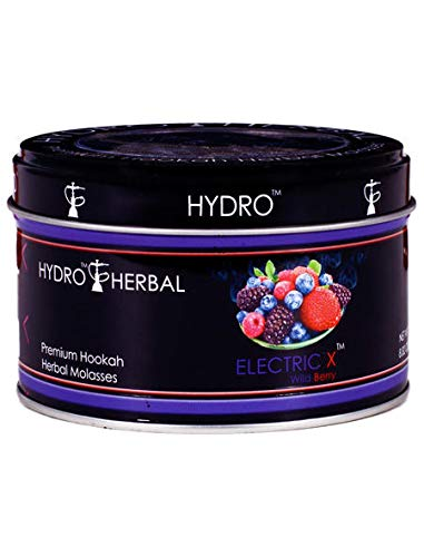 Hookah Tobacco 250g Jar - Hydro Herbal 250g Wild Berry Hookah Shisha Tobacco Free Molasses