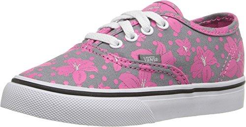 Vans Toddler Authentic (Flower Polka) Frost Gray/Azalea Pink Skateboarding Shoe (4 M US -