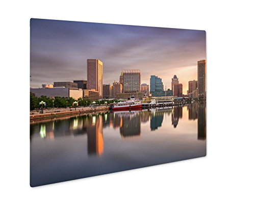 Ashley Giclee Metal Panel Print, Baltimore Inner Harbor, Wall Art Decor, Floating Frame, Ready to Hang 16x20, - Harbor Gallery Inner