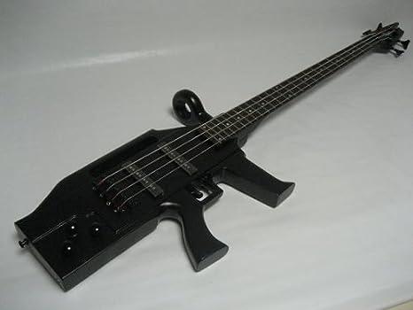 ktone bajo de 4 cuerdas para guitarra eléctrica, Máquina diseño de pistola, AK-47, Negro, Gig Bag: Amazon.es: Instrumentos musicales