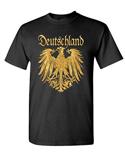 DEUTSCHLAND METALLIC GOLD - german eagle Tee Shirt T-Shirt, XL, Black