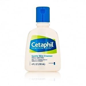 Cetaphil Gentle Skin Cleanser For All Skin Types 4 FL OZ (Pack of 2)
