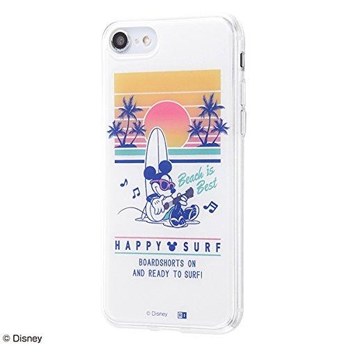 iPhone 8/7/『ディズニーキャラクター』/TPUケース+背面パネル/『ミッキーマウス/夏の夕日』 IJ-DP7TP/MK030