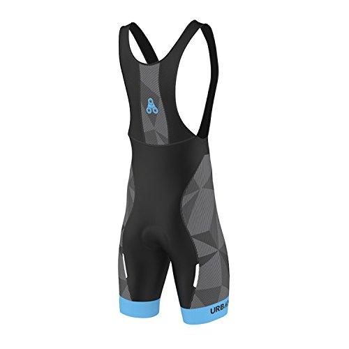 Men's URBAN CYCLING TEAM Short Sleeve Jersey & Bib Shorts Cycling Kit Set, Limited Edition (Medium, ELITE GRAPHITE Bib Shorts) Bike Shorts Kit