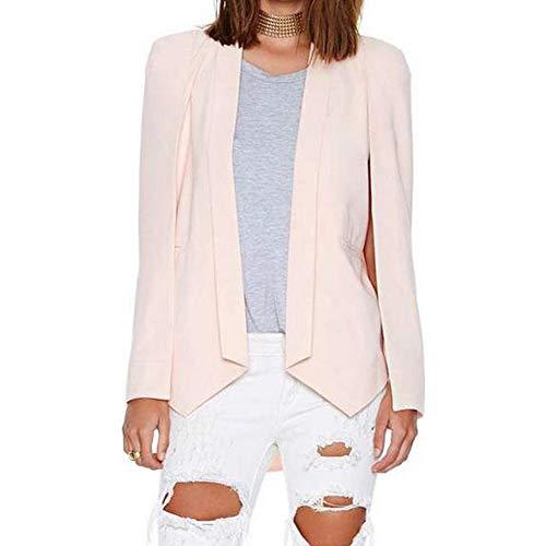 Pure Manteau Pink Les Cape Costumes Irrgulier Blazers Les EULAGPRE Dcontract Couleur Mode Femmes la qHgZxwnUX7
