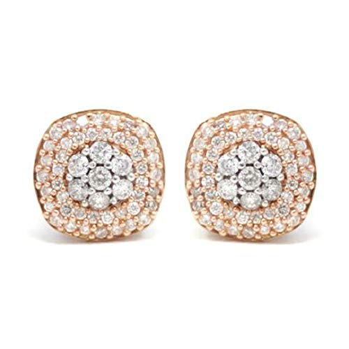 AFJewels 10k White and Rose Gold 0.52 Cttw Diamond Stud Earrings ()