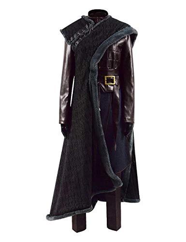 Womens Arya Cosplay Outfit Season 8 Winter Warrior Halloween Costume (Women XS, Arya Fullset)]()