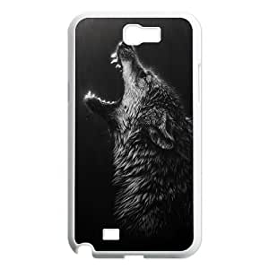 Black Wolves Unique Design Case for Samsung Galaxy Note 2 N7100, New Fashion Black Wolves Case wangjiang maoyi