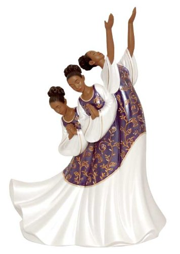 African American Praise Dancer: Giving Praise in Purple