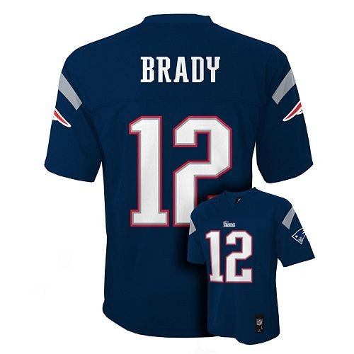 Outerstuff Tom Brady # 12 New England Patriots NFL Youth Mid-tier Team Jersey Navy (Youth Medium 10/12) by Outerstuff