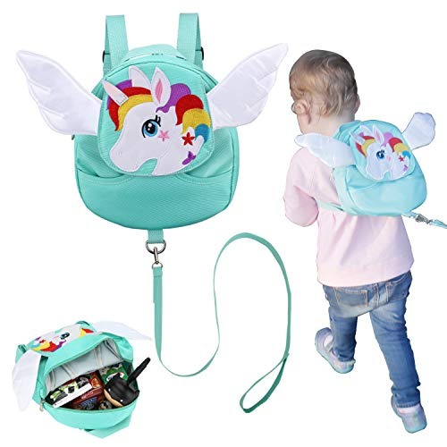 Toddler Backpack with Baby Leash- Toddler Harness Unicorn Backpack for Toddlers Age 1-4 Years Old