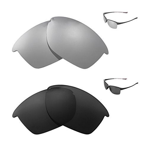 Walleva Polarized Titanium + Black Replacement Lenses For Oakley Unstoppable - Oakley Replacement Unstoppable Lenses