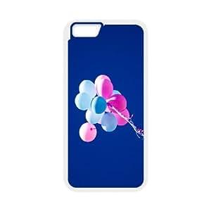 Dustin Balloon IPhone 6 Case Hardshell Colorful Balloons Blue Sky Ilike, Case for Iphone 6 [White]