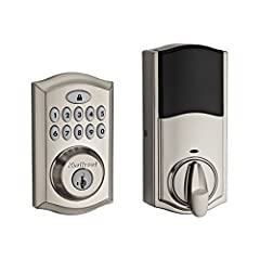 The SmartCode 913 touchpad electronic deadbolt is a one touch locking motorized deadbolt. With your personalized code, you can enter your home with the convenience of keyless entry and the back lit keypad provides increased visibility. SmartC...