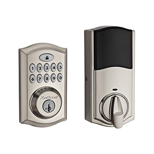 Kwikset 99130-002 SmartCode 913 Non-Connected Keyless Entry Electronic Keypad Deadbolt Door Lock Featuring SmartKey Security, Satin Nickel,kwikset