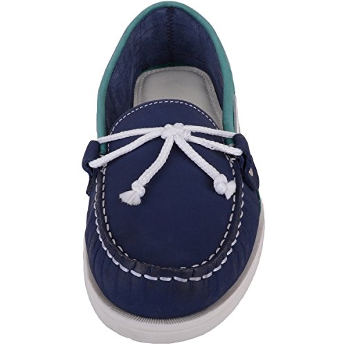 Absolute Footwear Womens Leather Casual/Summer/Holiday Boat/Deck Shoes/Sandals Indigo/Jade 8sZMj