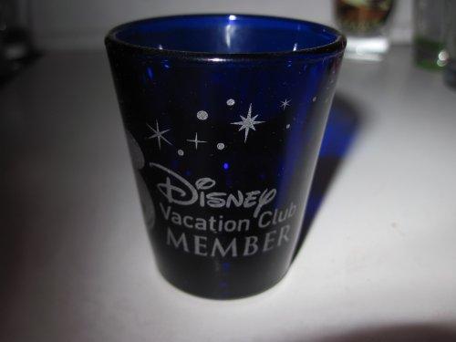 Disney Vacation Club Member New Logo Blue Glass Short Shot G