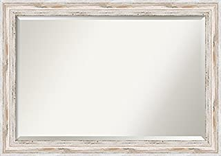 Amanti Art Framed Mirrors for Wall | Alexandria White Wash Mirror for Wall | Solid Wood Wall Mirrors | Large Wall Mirror 41.12 x 29.12 (B00T90UPAC) | Amazon price tracker / tracking, Amazon price history charts, Amazon price watches, Amazon price drop alerts