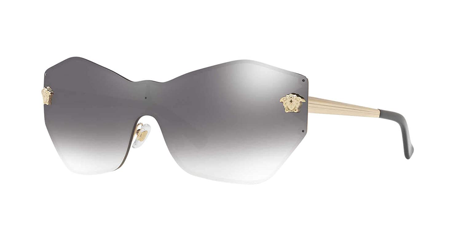 60caf77f26 Amazon.com  Versace Womens Sunglasses Gold Brown Metal - Non-Polarized -  43mm  Clothing