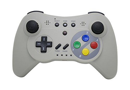 (NEXiLUX Wireless 3 Pro Controller Gamepad for Nintendo Wii U, Gray)