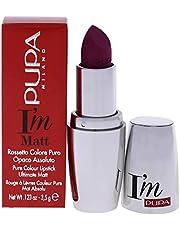 Pupa Milano I'M Matt Pure Color Lipstick - Velvety and Matt Lip Color - for Extraordinary Performance - Rich and Creamy Texture - 010 Delicate Nude - 0.123 Oz, Pupa Milano