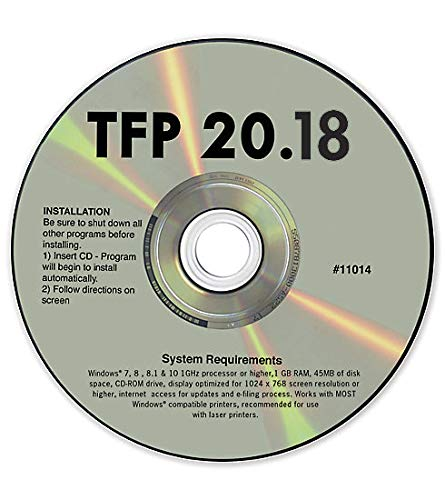 TFP 2018 Tax Form Software for 1099 & W2 Forms ~ Software for Small Business