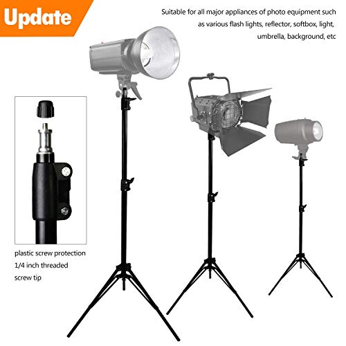 MOUNTDOG Upgraded 6.5 Ft/ 200CM / 78inch Photography Tripod Light Stand Aluminum Alloy Photographic Stand for Studio Reflector Softbox Umbrellas-6.5ftX2 by MOUNTDOG (Image #6)