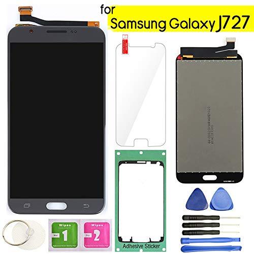 Samsung Galaxy J727 LCD Display Screen Replacement Touch Digitizer Assembly 5.5 for J7 Prime 2017 J727U SM-J727T SM-J727T1 J727R4 J727V J727P Sky Pro SM-J727A SM-J727VL J7 2017 Perx J727PZKASPR(Gray)