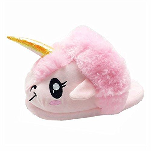 Pantoufle Pantoufles Licorne Rainbow rose Taille Motif Mules pointure En Toutes Fox Rose Douces Fantaisie Peluche Européenne Zzqwf5z