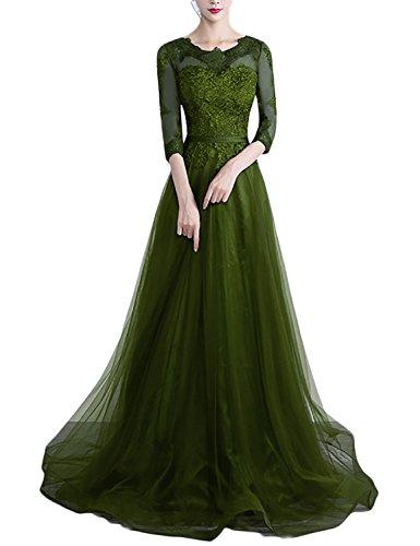 New Womens Moss Green Dress - 4