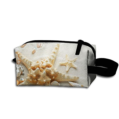 Create Magic SAND SEASHELLS STARFISH Purse Or Coin Purse Pouch Waterproof Multi-purpose Storage Tote Tools Pouches Cosmetic Bags With Zipper And Hanging Loop