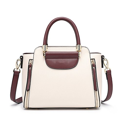Main PU UniversitéÉtudiant Diagonale Simple WKNBEU Mode Voyage Sacs Beige À Partie Épaule Femmes Shopping Sac 1ICq0