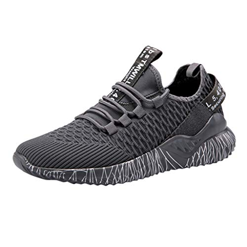 LuminitA Men's Athletic Running Shoes Ultra Lightweight Breathable Slip On Work Sneakers Street Sport Shoes