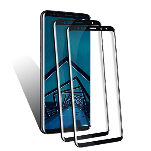 (Galaxy S9 Plus Screen Protector by BIGFACE, [2 Pack] Premium HD Clear Tempered Glass, HD Clarity, Anti- Scratch, Case Friendly, Anti-Bubble 3D Touch Accuracy Film for Galaxy S9 Plus)