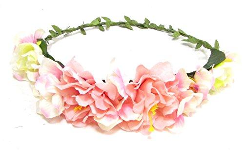 Blush Rose clair Blanc Hortensia Fleur Rose Bandeau Cheveux Couronne Guirlande 1559* exclusivement Vendu par Starcrossed Beauty *