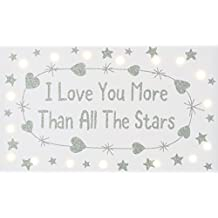 I LOVE YOU MORE THAN ALL THE STARS 17 LED CANVAS (20 X 33CM) by Think Pink