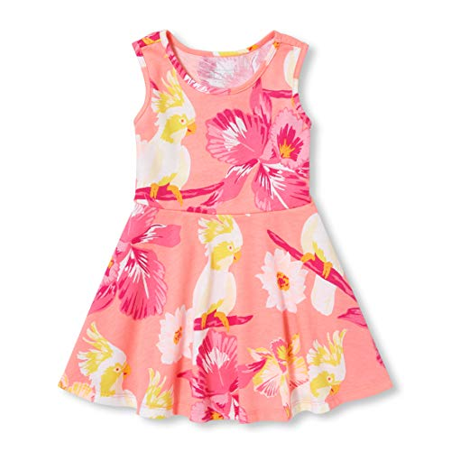 The Children's Place Baby Girls Sleeveless Printed Skater Dress, Dawn Pink, 18-24MONTH