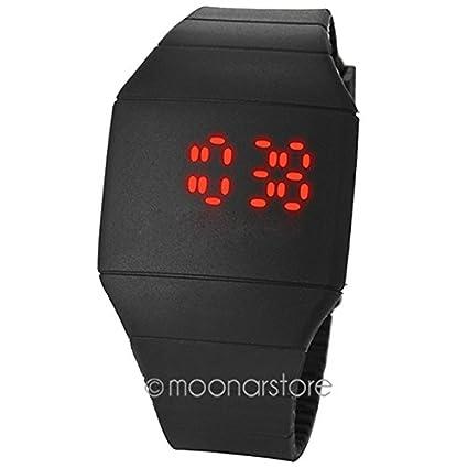 GEZICHTA Moda Deportes Relojes LED Pantalla Táctil Silicona Pantalla Digital Ultra-delgada Goma Reloj de