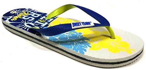 Caucho Sandalias Sweet para Years Turquesa de EU 42 Azul Hombre 5fftrqwx