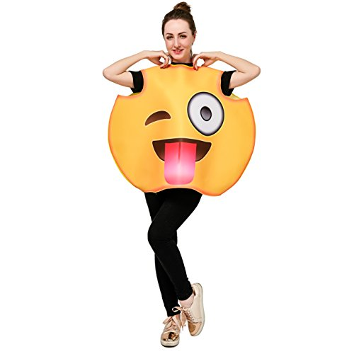 DSplay Emoticon Costumes for Unisex Adult OneSize (Tongue)